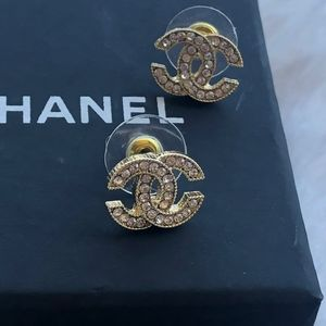 Authentic Chanel Rhinestone Earrings